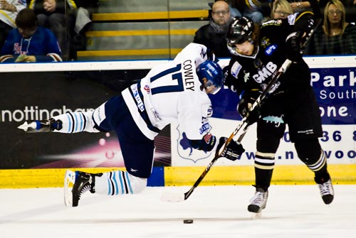 Nottingham's Matthew Myers gets the better of the Blaze